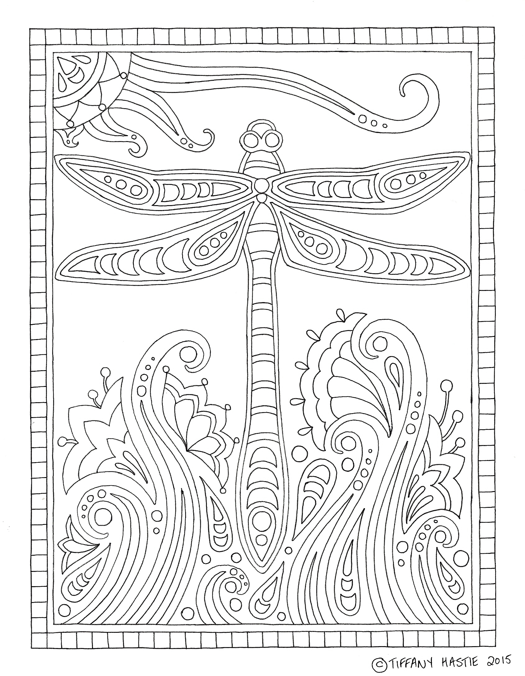 Free colouring pages for adults. Print – colour – relax. | Tiffany ...