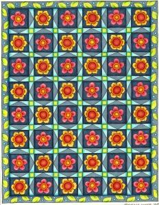 finished flower grid
