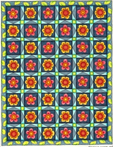 finished flower grid