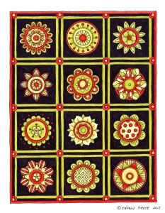 mini mandalas coloured