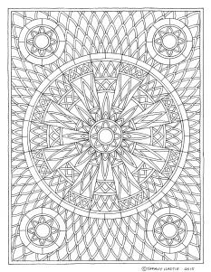 Shield Mandala Drawing