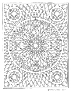 Shield Mandala Drawing