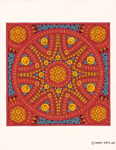 Red Tile Mandala