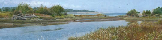 Afternoon at the Estuary (1.5 x 6 inches)