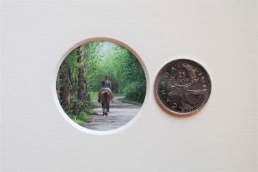 Vignette with quarter