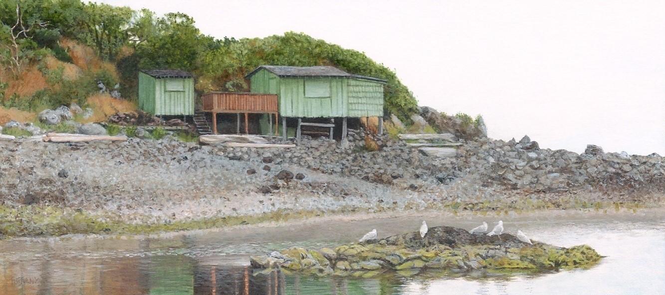Shack Island (2 x 4.5 inches)
