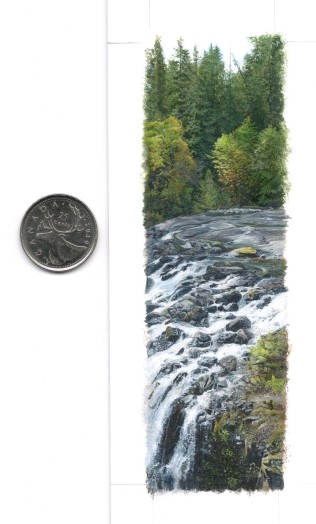 With coin, Overlooking the Falls (5.25 x 1.5 inches)