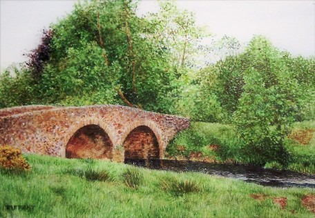 Bridge painting in watercolour